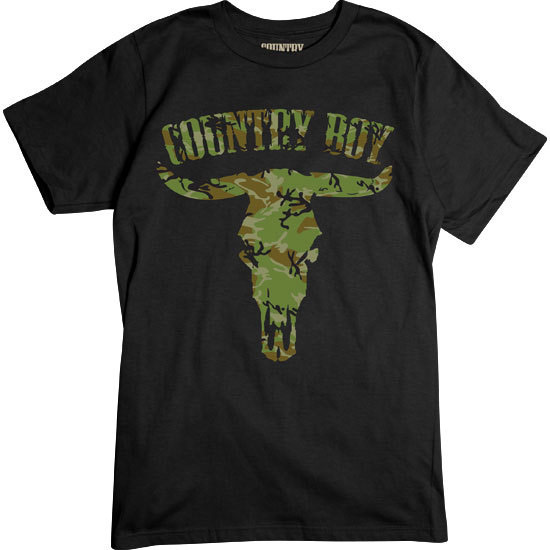 Country Boy® Camo Steer Skull - Short Sleeve Tee