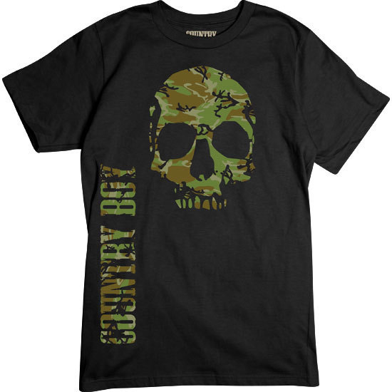 Country Boy® Camo Skull - Short Sleeve Tee