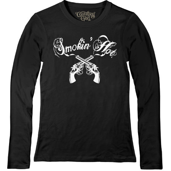 Country Girl® Smokin' Hot - Fitted Long Sleeve Tee