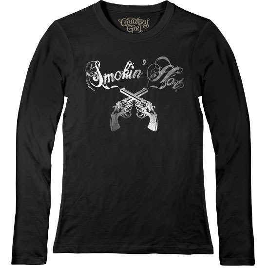 Country Girl® Silver Smokin' Hot - Fitted Long Sleeve Tee
