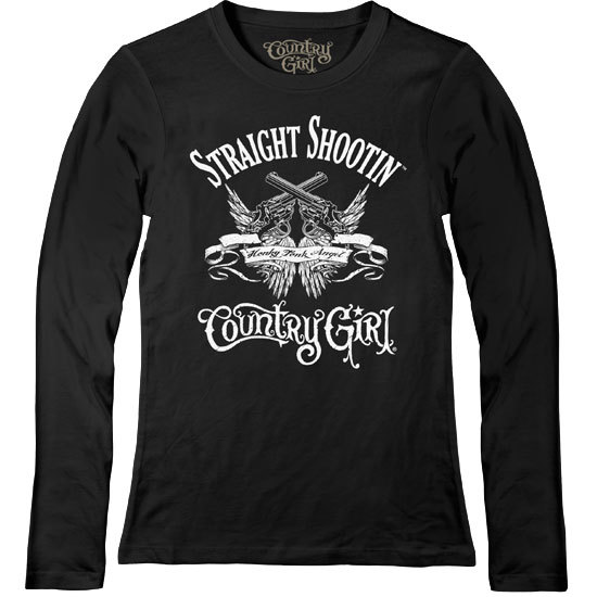 Country Girl® Straight Shootin' - Fitted Long Sleeve Tee