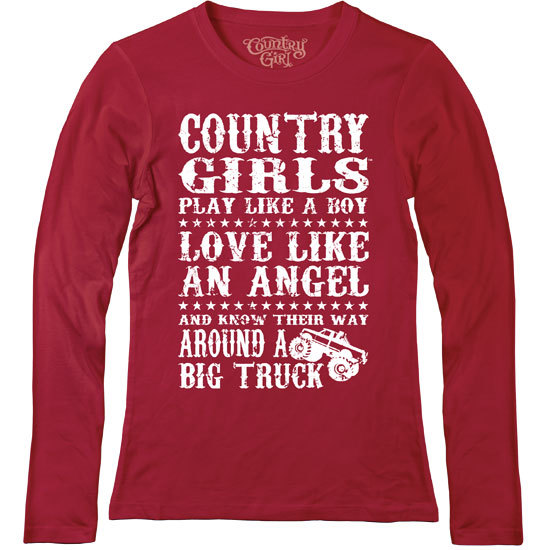 Country Girl® Big Truck - Fitted Long Sleeve Tee