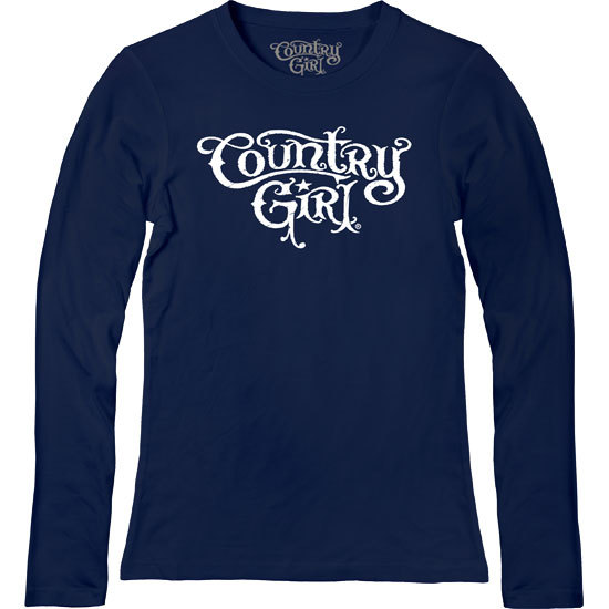 Country Girl® Logo - Fitted Long Sleeve Tee