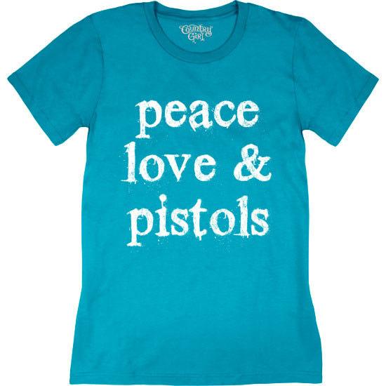 Country Girl® Peace Love Pistols - Short Sleeve Tee