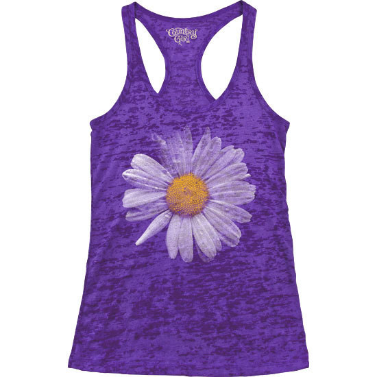 Country Girl® Daisy - Burnout Racerback Tank