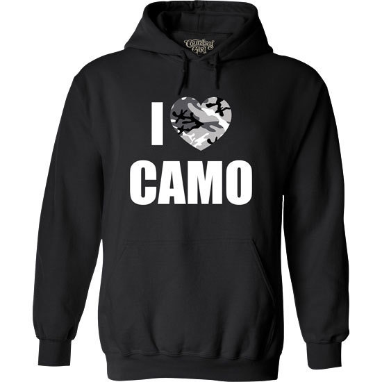 Country Girl® CG I Heart Camo - Relaxed Pullover Hoodie