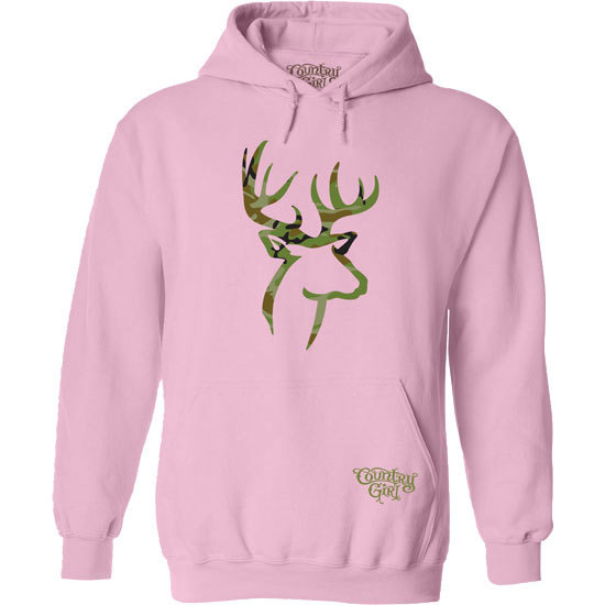 Country Girl® Camo Deer Logo - Relaxed Pullover Hoodie