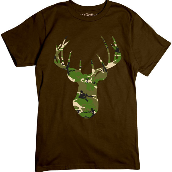 Country Girl® Camo Deer Head w/Nape Country Girls - Short Sleeve Tee