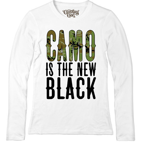 Country Girl® Camo is the New Black - Fitted Long Sleeve Tee