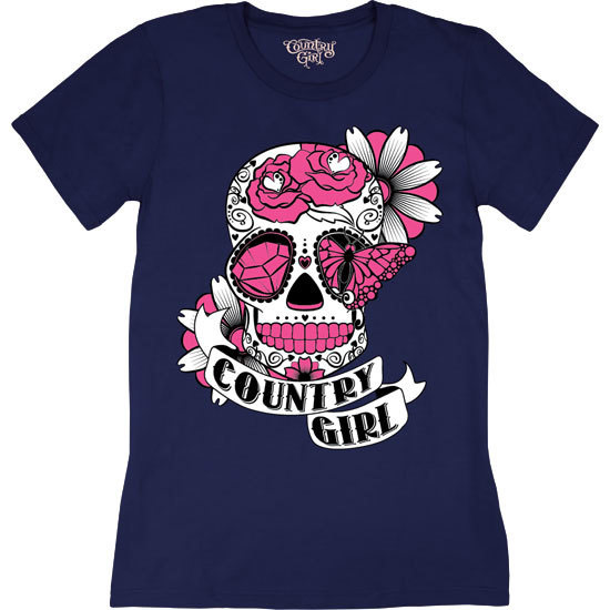 Country Girl® Sugar Skull - Short Sleeve Tee