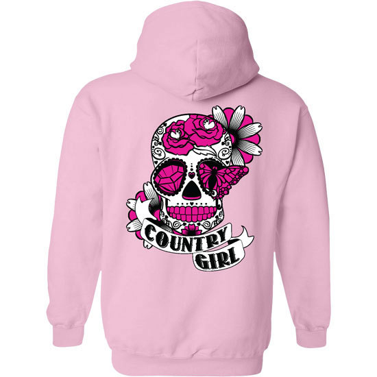 Country Girl® Sugar Skull - Relaxed Pullover Hoodie