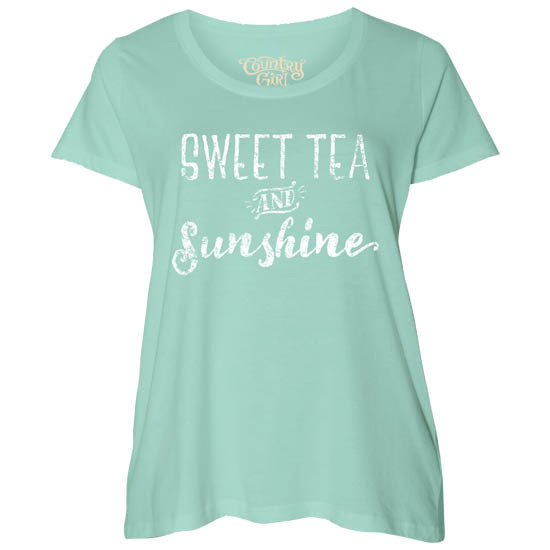 Country Girl® Sweet Tea & Sunshine - Plus Size Scoop Neck Tee