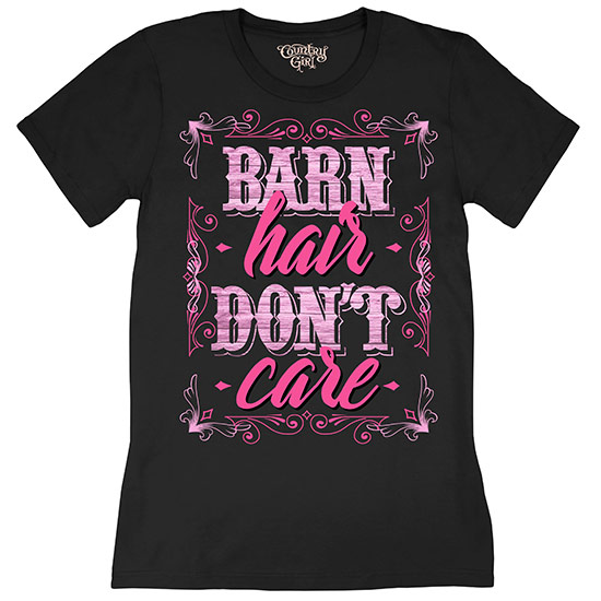 Country Girl® Barn Hair, Don't Care - Short Sleeve Tee