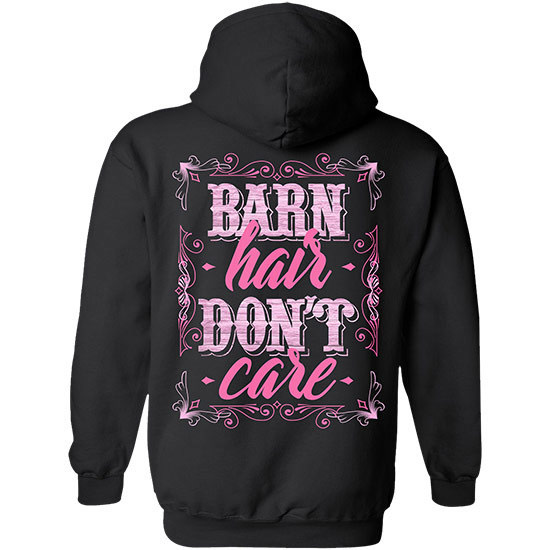 Country Girl® Barn Hair, Don't Care - Relaxed Pullover Hoodie