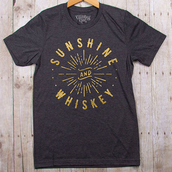 Country Girl® Sunshine & Whiskey - Fitted Jersey Tee