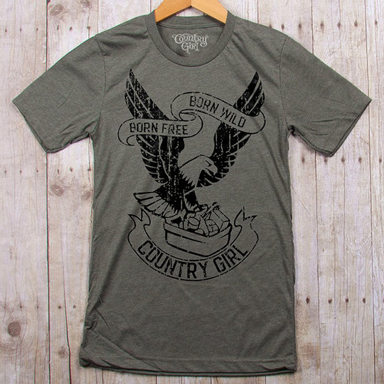 Country Girl® Born Free Eagle - Fitted Jersey Tee
