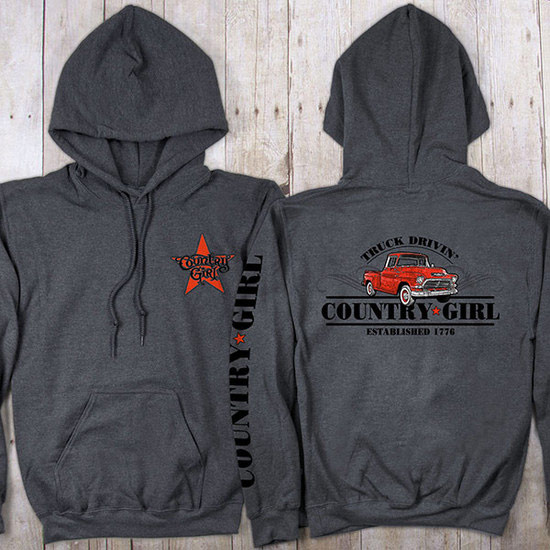 Country Girl® Truck Drivin - Relaxed Pullover Hoodie
