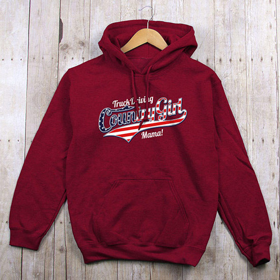Country Girl® Truck Driving Mama - Relaxed Pullover Hoodie