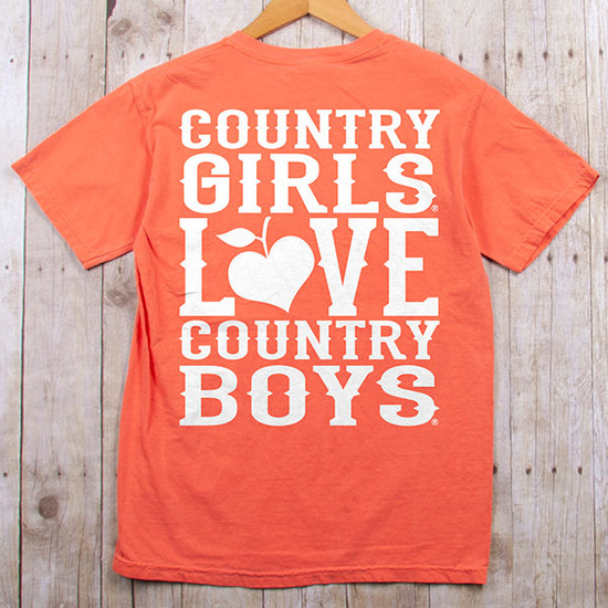 Country Girl® Comfort Colors CGs Love Country Boys - Short Sleeve Tee