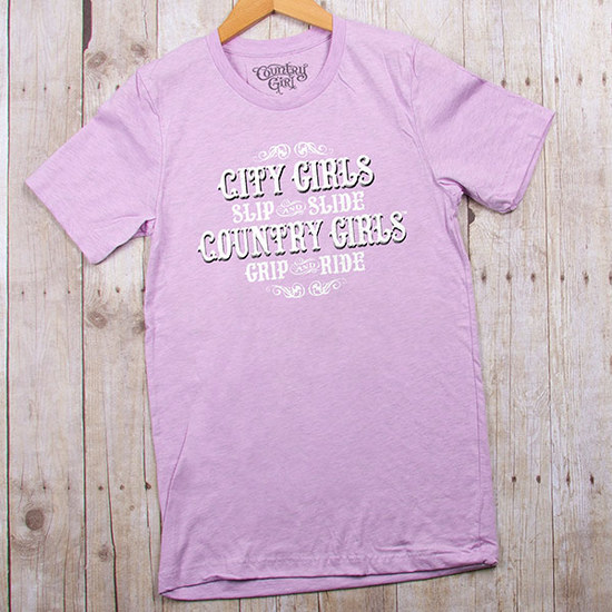 Country Girls Grip And Ride - Fitted Jersey Tee