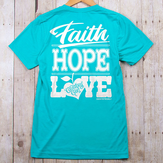 Country Girl® Faith Hope Love - Fitted Jersey Tee