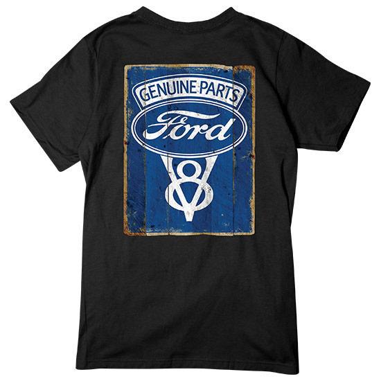 Country Boy® Genuine Ford Parts V8 Logo Vintage Sign - Short Sleeve Tee