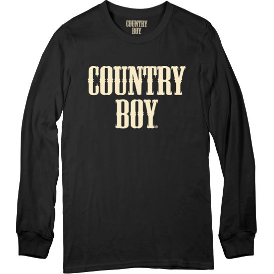 Country Boy® Black Long Sleeve Shirt - Long Sleeve Tee
