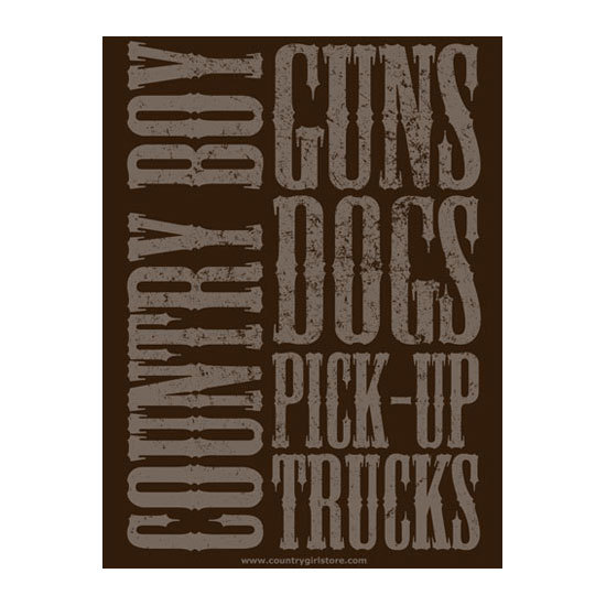 "Country Boy® Guns Dogs Pickup Trucks - 18"" x 24"" Poster"