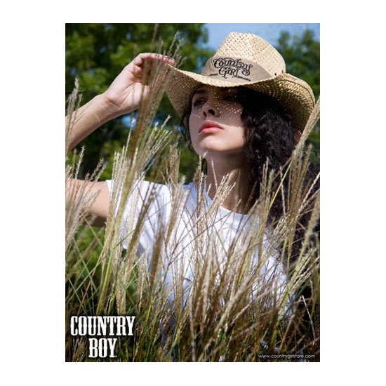 "Country Boy® Cowgirl Hat & Field - 18"" x 24"" Poster"