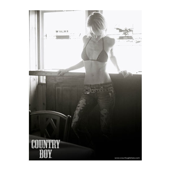 "Country Boy® Cowgirl in Window - 18"" x 24"" Poster"