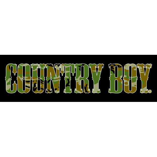 "Country Boy® Camo Logo - 10"" x 3"" Bumper Sticker"