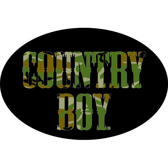 "Country Boy® Camo Logo - 6"" x 4"" Oval Bumper Sticker"