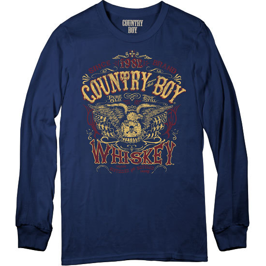 Country Boy® Whiskey - Long Sleeve Tee