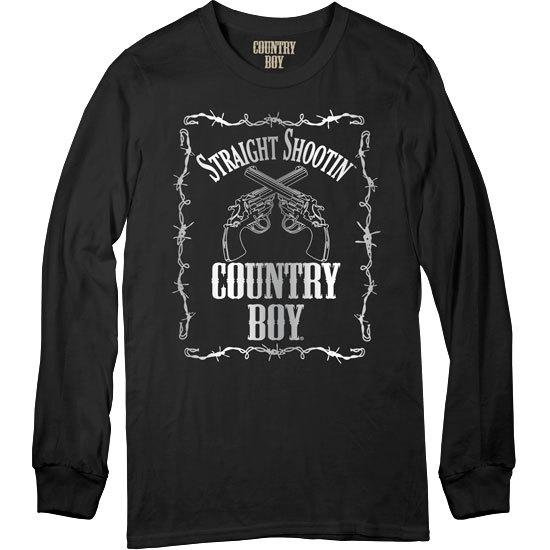 Country Boy® Straight Shootin' - Long Sleeve Tee