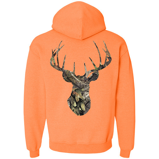 Country Boy® Mossy Oak® Break Up Country Deer Head - Relaxed Pullover Hoodie