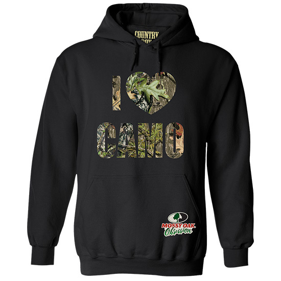 Country Boy® Mossy Oak® Obsession I Love Camo - Relaxed Pullover Hoodie