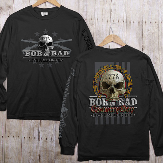 Country Boy® Comfort Colors CB Born Bad - Long Sleeve Tee