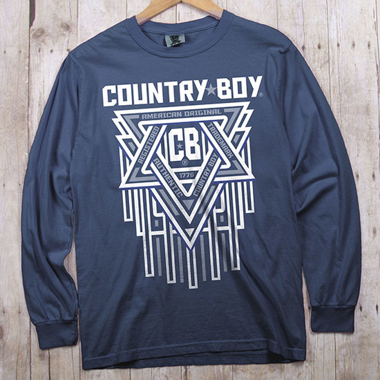 Country Boy® Comfort Colors CB Geometric - Long Sleeve Tee