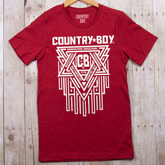 Country Boy® CB Geometric White - Jersey Tee