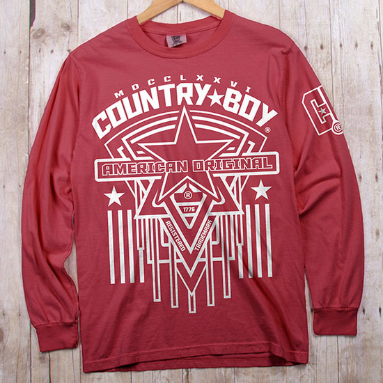 Country Boy® Comfort Colors American Original Star - Long Sleeve Tee