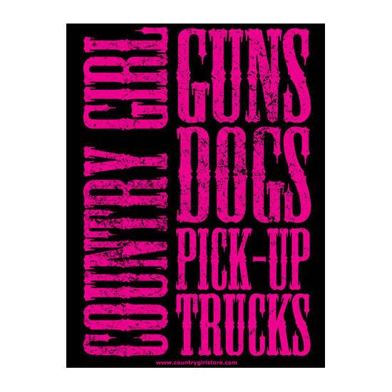 "Country Girl® Guns Dogs Pickup Trucks - 18"" x 24"" Poster"