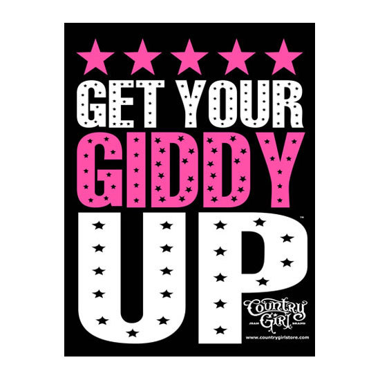 """Country Girl® Get Your Giddy Up - 18"""" x 24"""" Poster"""