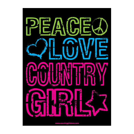"Country Girl® Peace Love - 18"" x 24"" Poster"