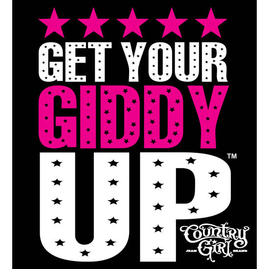 "Country Girl® Get Your Giddy Up - 5"" x 5.5"" Sticker"