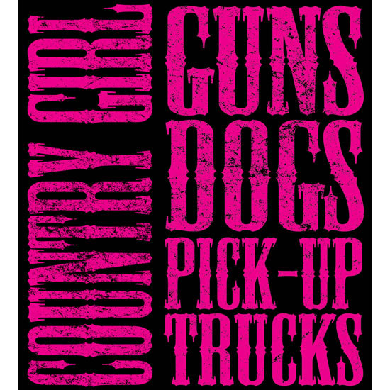 "Country Girl® Guns Dogs Pickup Trucks - 5"" x 5.5"" Sticker"