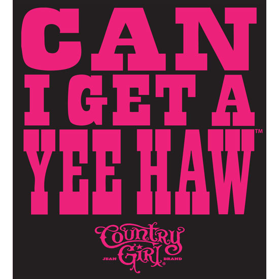 "Country Girl® Can I Get A Yee Haw - 5"" x 5.5"" Sticker"