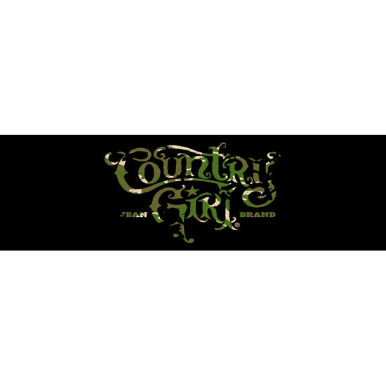 "Country Girl® Camo Logo - 10"" x 3"" Bumper Sticker"