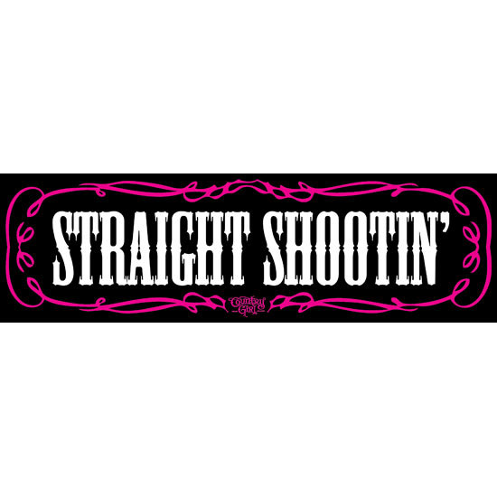 "Country Girl® Straight Shootin' - 10"" x 3"" Bumper Sticker"