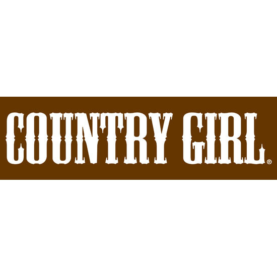 "Country Girl® Logo Text - 10"" x 3"" Bumper Sticker"
