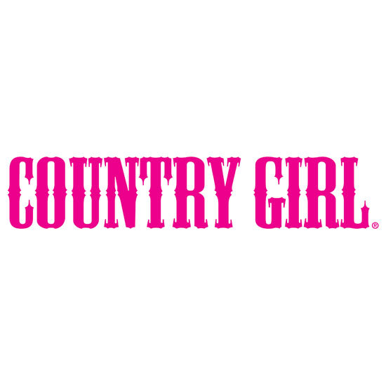 "Country Girl® White/Pink - 10"" x 3"" Bumper Sticker"